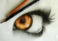 Drawing of Golden eye by Daria Dzyuba