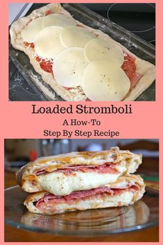 Loaded Stromboli Yum - Dinner Table For Five Holy Stromboli! That is what you will say after your first bite of this monster of a Stromboli. It is packed with so much flavor [. Homemade Stromboli, Stromboli Sandwich Recipe, Stromboli Dough Recipe, Appetizer Recipes, Dinner Recipes, Italian Appetizers, Meat Appetizers, Salami Recipes, Salads