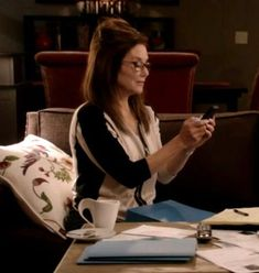 """Found another Major Crimes prop. In """"Dismissed with Prejudice,"""" Sharon Raydor was drinking out of what can only be described. Mary Mcdonnell, Major Crimes, Celebrity Gallery, Drinking Coffee, Star Trek, Fanfiction, Closer, Tea, Woman"""