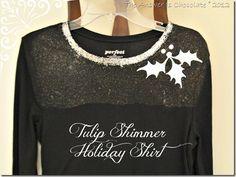 Tulip Shimmer Sheet Holiday Shirt from @Carol