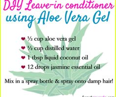 Make your own DIY aloe vera leave-in conditioner to improve your hair's texture and moisture-retention!