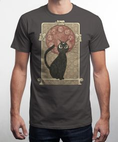 """""""Lune Noir"""" by Qwertee : Limited Edition Cheap Daily T Shirts 