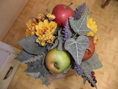 Silk arrangement with apples. Silk Arrangements, Garden Club, Apples, Holiday, Fun, Vacations, Holidays, Apple, Vacation