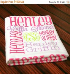 Personalized baby blanket monogrammed baby blanket personalized personalized baby blanket monogrammed baby blanket personalized baby gift baby shower giftname blanket swaddling blanketchas002 by chasingbutt negle Images