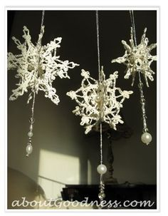 How to Make 3D Crochet Snowflake Ornament: DIY Tutorial More
