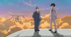 """Creating Planes"" Clip from 'The Wind Rises' Shows Jiro Flying on Airplane Wing http://www.rotoscopers.com/2014/02/21/creating-planes-clip-from-the-wind-rises-shows-jiro-flying-on-airplane-wing/"