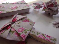 Coruja de origami em tecido