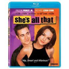 She's All That starring Freddie Prinze Jr, Rachel Leigh Cook Teen Movies, Funny Movies, Movie Tv, Awesome Movies, She's All That Movie, Jodi Lyn O'keefe, Rachel Leigh Cook, Kieran Culkin, Kimberly Jones
