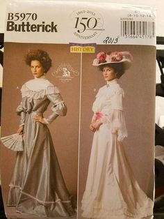 Butterick Pattern 5970 Making History Ladies Afternoon tea Blusa Vestido 4051d74c07959