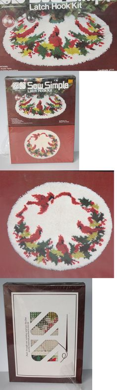 Latch Hooking Kits 28148: Vtg Sew Simple Latch Hook Rug Kit Sealed Box Christmas Tree Skirt Cardinals -> BUY IT NOW ONLY: $39.99 on eBay!