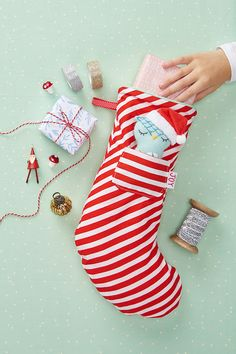 A sweet future heirloom Christmas stocking sewing pattern with a mini owl mascot