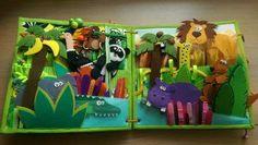 В книге 4 разворота, множество разных животных, куча заданий , застежек и не только. Приятного просмотра). Все!