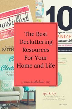 These decluttering books changed the way I clean and organize my home. They teach so much more than just storage solutions! Declutter Books, Declutter Your Life, Konmari Books, Home Organization Hacks, Organizing Tips, Decluttering Ideas, Organisation Ideas, Organising, Clutter Free Home