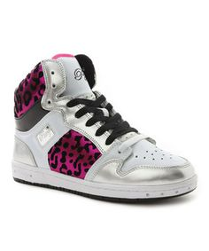 Another great find on #zulily! White & Pink Cheetah Glam Pie Hi-Top Sneaker by Pastry #zulilyfinds