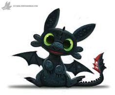 Toothless by Piper Thibodeau aka Cryptid-Creations
