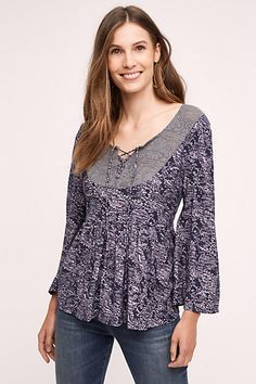 Marcella Lace-Up Top #anthropologie