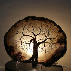 Wire tree of life geode sculpture