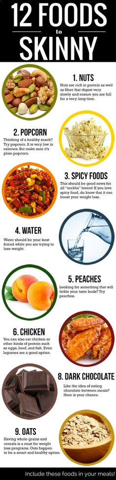 12 foods to eat - to get skinny quick.