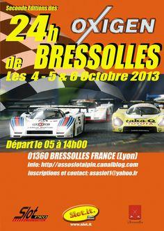 24h Oxygène, compétition automobile. Du 4 au 6 octobre 2013 à Bressolles.