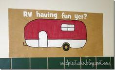 Camping theme bulletin board - RV