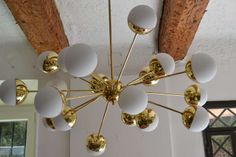 Sputnik Stilnovo Chandelier | From a unique collection of antique and modern chandeliers and pendants  at http://www.1stdibs.com/furniture/lighting/chandeliers-pendant-lights/