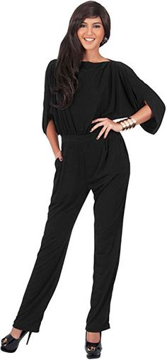 5ecb02286d8 KOH KOH Womens Short Sleeve Sexy Formal Cocktail Casual Cute Long Pants One  Piece Fall Jumpsuit Jumpsuits Pant Suit Suits Romper Rompers Playsuit for  Women