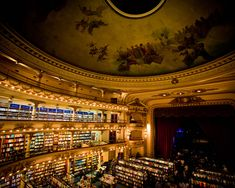 A theater turned bookshop, in Buenos Aires, Argentina. I would go to Argentina just for this book store.