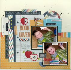 Layout shared with us by Marielle LaForge-LeBlanc using our Smarty Pants collection