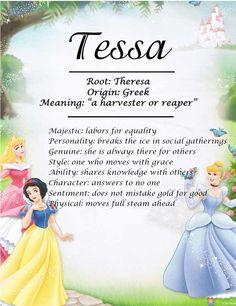 I love Tess and Tessa! They feel so effortless and bohemian to me.