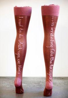 Zoe-Buckman-sculpture-embroidery-stockings