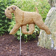 Soft-coated Wheaten Terrier Dog Figure Garden Stake. Home Yard Products & Gifts.