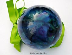 Making Melted Crayon Glass Ornaments | Falafel and the Bee