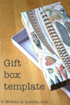 Gift box template and tutorial at Wolves In London