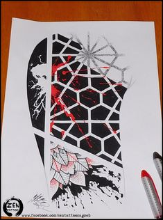 Abstract geometric tattoo design by bLazeovsKy.deviantart.com on @DeviantArt
