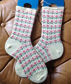 Mary, Mary Quite Contrary Socks by Arenda Holladay