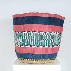 These stunning Nifty Knits are hand woven by women working within several weaving cooperatives in Eastern Kenya and Nairobi. These baskets are perfect as large planters, laundry baskets and hampers for shoes, toys, kindling, yoga gear or general clutter.  These intricate and colourful