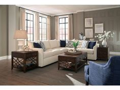 Trisha Yearwood Home Collection by Klaussner Atlanta Transitional Sectional Sofa with Tuxedo Arms - Olinde's Furniture - Sofa Sectional Living Room Without Sofa, Living Room Sofa, Living Room Furniture, Home Furniture, Living Room Decor, Furniture Online, Transitional Sectional Sofas, Transitional Living Rooms, Transitional Style