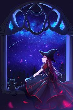 Beautiful magic night by Hyanna-Natsu.deviantart.com on @DeviantArt