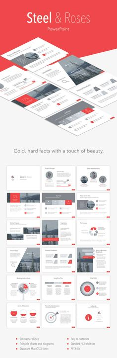 Steel & Roses PowerPoint Template. Download here…