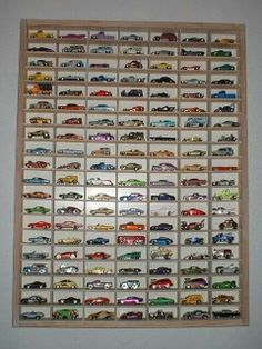 Save your son's matchbox cars and frame them for when he's older.