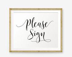 Wedding Please Sign Printable, Wedding Guest Book Sign Printable, Wedding welcome sign, Wedding Sign, Wedding Decor, wedding reception sign