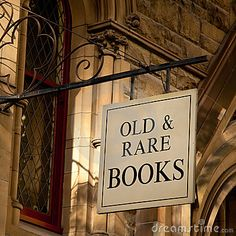 Old & Rare Book Sign