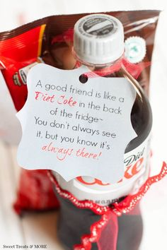 The perfect simple holiday gift for a good friend! - Diet Coke - Ideas of Diet Coke - The perfect simple holiday gift for a good friend! Goodbye Gifts For Coworkers, 19th Birthday Gifts, Bff Birthday, Secret Sister Gifts, Farewell Gifts, Diet Coke, School Gifts, Simple Gifts, Appreciation Gifts