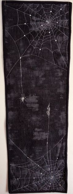 Cobweb Table Runner or Wall Hanging Spider by WestCoastWitch, $70.00