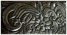 Free hand doodle on Pewter by Yvonne Botha  www.facebook.com/mimmicgalleryandstudio www.mimmic.co.za