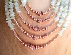 Multi-Stand Amazonite and Copper Necklace - Handmade Jewelry by SolsticeDesigns1 on Etsy
