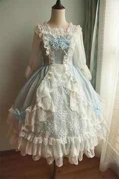 〓Lady Lillian〓QUEENIE LOLITA JSK in Blue (also in cream and pink)