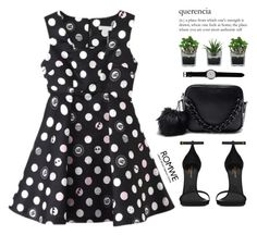 """""""Polka dots"""" by m-zineta ❤ liked on Polyvore featuring thumbsUp!, Threshold and Yves Saint Laurent"""