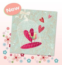 Birdcage Love Phoenix Trading greetings card. Blank so you can choose your occasion - Birthday, Anniversary, Mother's Day, Thank You..... £1.75 or save 20% when you buy 10+ cards.