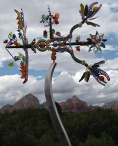 Kinetic Wind Sculpture in Sedona, Arizona